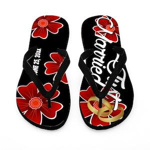 0d56c9e2e8eb7 Wedding Flip Flops - CafePress
