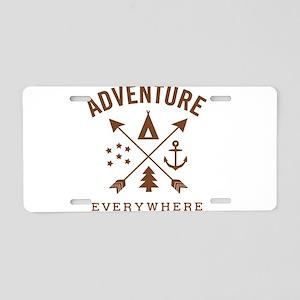 ADVENTURE EVERYWHERE Aluminum License Plate