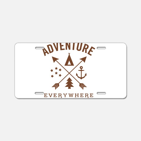 ADVENTURE EVERYWHERE Aluminum License Plate