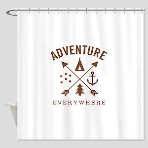 ADVENTURE EVERYWHERE Shower Curtain