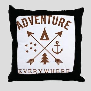 ADVENTURE EVERYWHERE Throw Pillow