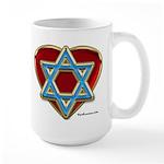 Heart For Israel Large Mug