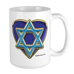 Heart For Israel Large Mug