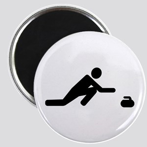 Curling player Magnet