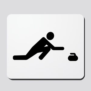 Curling player Mousepad
