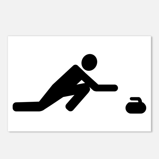 Curling player Postcards (Package of 8)