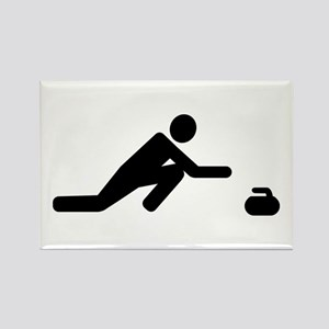 Curling player Rectangle Magnet