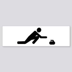 Curling player Sticker (Bumper)