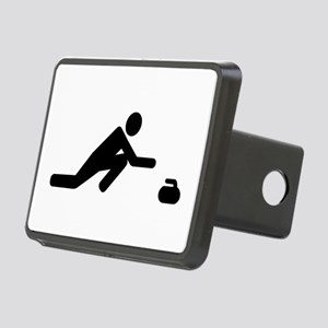 Curling player Rectangular Hitch Cover