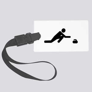 Curling player Large Luggage Tag