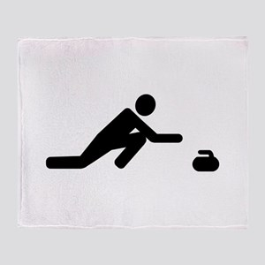 Curling player Throw Blanket