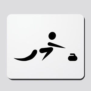 Curling player icon Mousepad