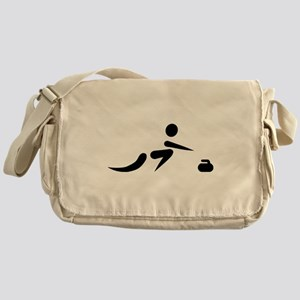 Curling player icon Messenger Bag