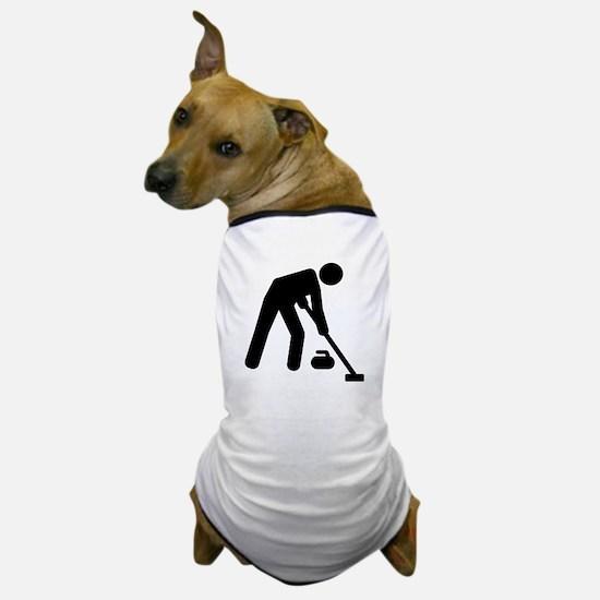 Curling sports player Dog T-Shirt