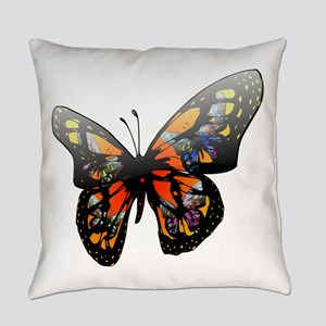Butterfly with lighting effect cli Everyday Pillow