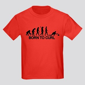 Evolution born to curling Kids Dark T-Shirt