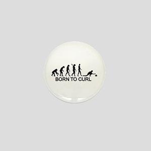 Evolution born to curling Mini Button