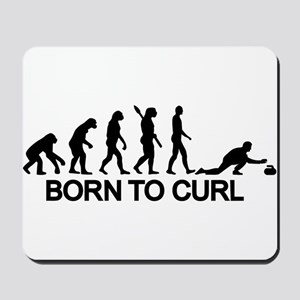 Evolution born to curling Mousepad