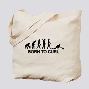 Evolution born to curling Tote Bag