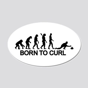 Evolution born to curling 20x12 Oval Wall Decal