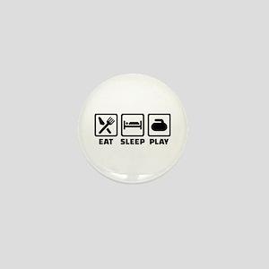Eat Sleep Play Curling Mini Button