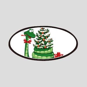 Snake Christmas design graphics Patch