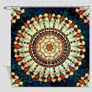 Sketched Mandala Shower Curtain