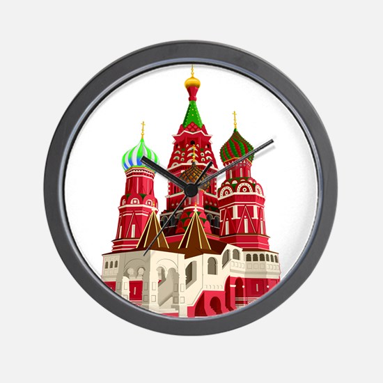 Moscow castle design Wall Clock