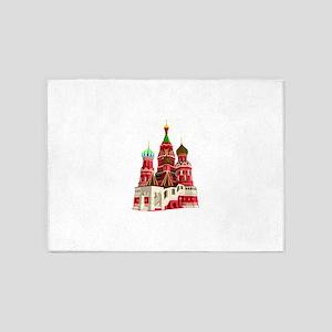 Moscow castle design 5'x7'Area Rug