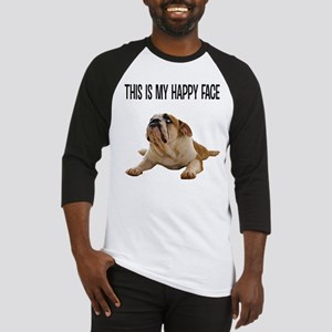 Happy Face Bulldog Baseball Jersey