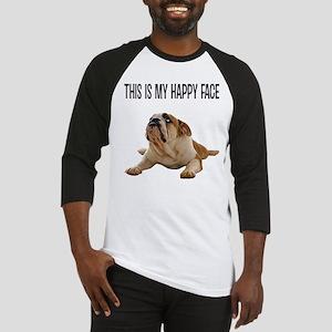 Happy Face Bulldog Baseball Jersey