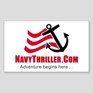Navy Thriller Rectangle Sticker