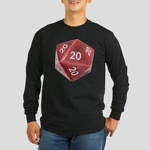 Roll All 20's Long Sleeve Dark T-Shirt