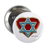Heart For Israel Button