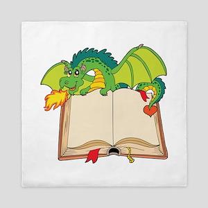Cute cartoon dragon Queen Duvet