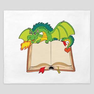 Cute cartoon dragon King Duvet