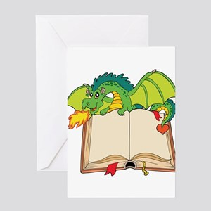 Cute cartoon dragon Greeting Cards