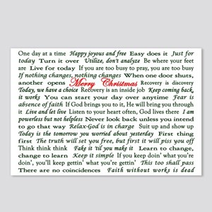 Merry Christmas Slogan Card Postcards (Package of