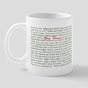 Merry Christmas Slogan Card Mug