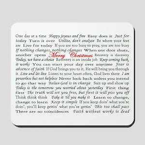 Merry Christmas Slogan Card Mousepad