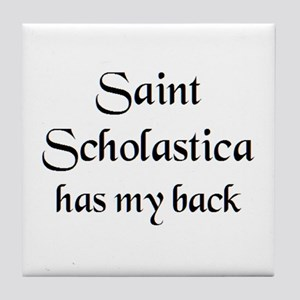 saint scholastica Tile Coaster