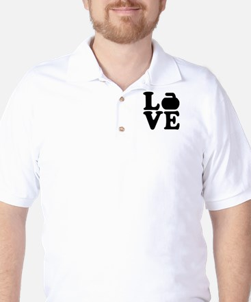 Curling love Golf Shirt