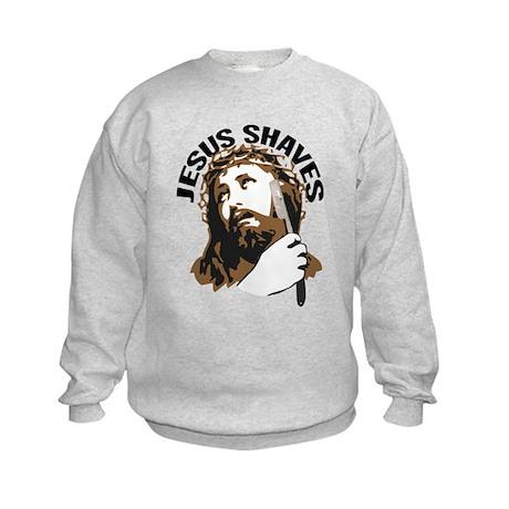 Jesus Shaves BrnBlk Kids Sweatshirt