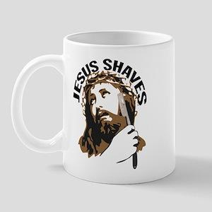 Jesus Shaves BrnBlk Mug