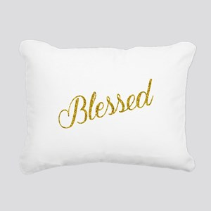 Blessed Gold Faux Foil M Rectangular Canvas Pillow