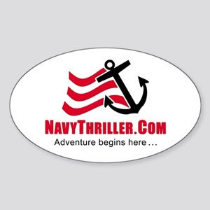Navy Thriller Oval Sticker