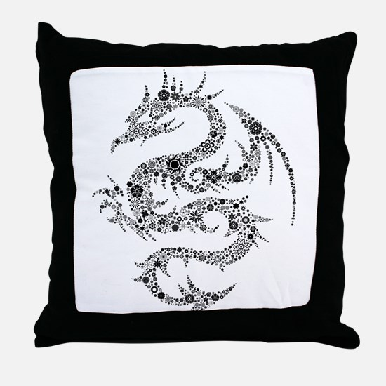 Dragon clip art Throw Pillow