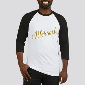 Blessed Gold Faux Foil Metallic Gl Baseball Jersey