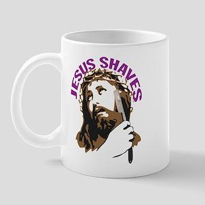 Jesus Shaves BrnPrpl Mug