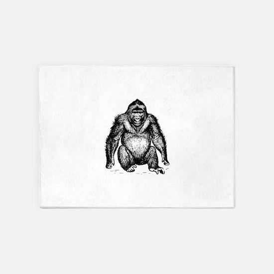 Ape clip art 5'x7'Area Rug
